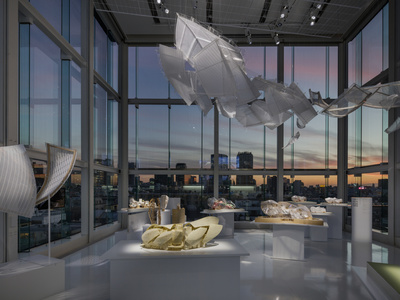 Exhibition of Fondation Louis Vuitton by Frank Gehry